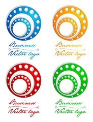 3D colored circle in circle logo