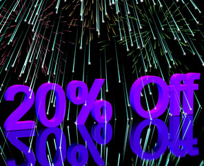 20% Off With Fireworks Showing Sale Discount Of Twenty Percent