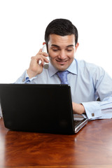 Businessman discussion on telephone