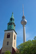 TV Tower and church in Berlin