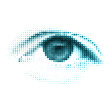Blue color human digital eye. EPS 8