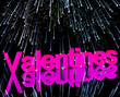 Valentines Word And Fireworks Showing Love Romance And Valentine