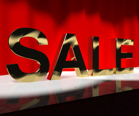 Sale Word On Stage Meaning Discount Show Or Shows