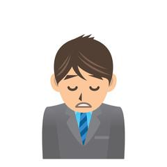 サラリーマン D 風邪 疲労 イラスト