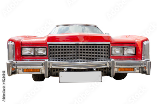 red cadillac,  isolated