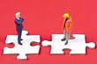 Leinwandbild Motiv Arbeitgeber vs Arbeitnehmer