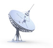 radio telescope isolated on white background, work pa