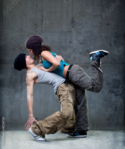 Passion dance couple.