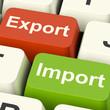 Export And Import Keys Showing International Trade Or Global Com