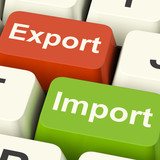 Export And Import Keys Showing International Trade Or Global Com