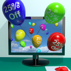 25% Off Balloons From Computer Showing Sale Discount Of Twenty F