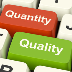 Quality And Quantity Computer Keys Showing Choice Between Excell