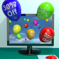 30% Off Balloons From Computer Showing Sale Discount Of Thirty P
