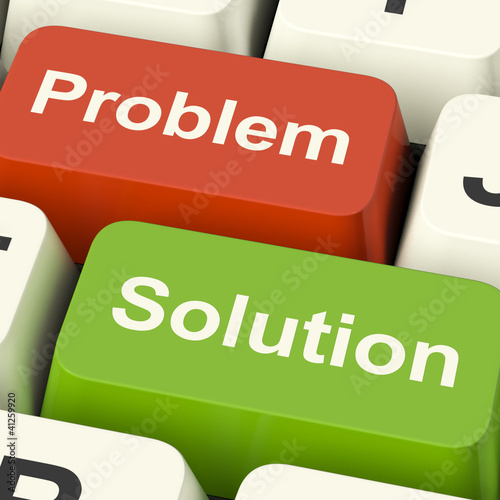Problem And Solution Computer Keys Showing Assistance And Solvin