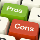 Pros Cons Computer Keys Showing Plus And Minus Alternatives Anal
