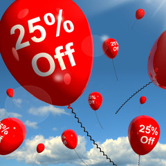 Balloon With 25% Off Showing Sale Discount Of Twenty Five Percen