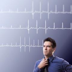Geschäftsmann EKG