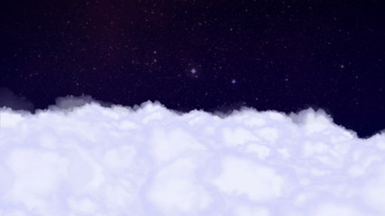 Clouds and Stars Backgrund - HD1080