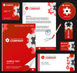 Business style, corporate identity template 7 (red industrial)