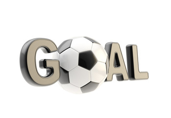 "Word ""goal"" with the soccer ball as ""o"""