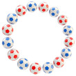Football circle frame background isolated