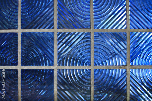 Leaded Glass, Blue Textured Window