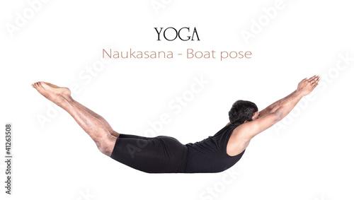 Yoga naukasana boat pose