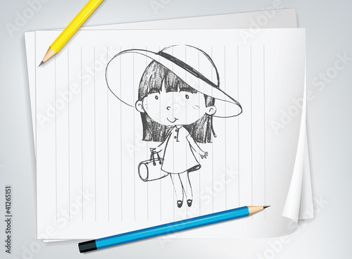 Cute girl with hat