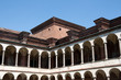 Renaissance courtyard of Milan University, Lombardy