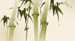 oriental style painting, bamboo branches
