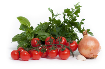 Cherry tomatoes with parsley,basil,onion and garlic_ Sapori