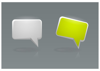Vector illustration of speech bubble icons, eps10