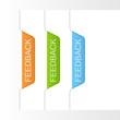 Feedback labels. Vector illustration