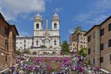 Roma, piazza d Spagna, veduta - Fine Art prints