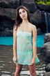 Beautiful Girl at Tropical Resort
