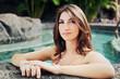 Beautiful Girl Relaxing at Tropical Resort