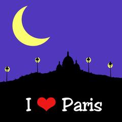 Paris - Sacré Coeur - Nuit