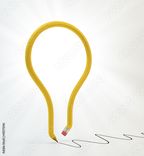 light bulb pencil