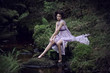 Beauty woman in nature scenery