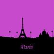 Paris -Tour Eiffel - Sacré Coeur