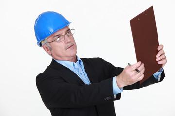 A mature male architect.
