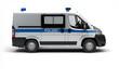 Einsatzfahrzeug der Polizei (Seitenansicht)