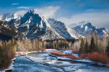Mount Lorette and Kananaskis River, Alberta,Canada