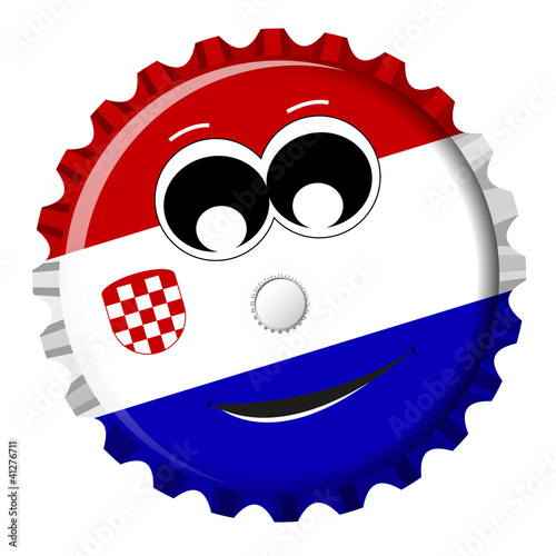 Kroatien Kronkorken Smiley