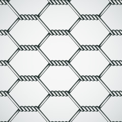 vector chicken wire seamless background