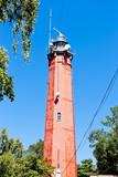 lighthouse Latia Morska in Hel, Pomerania, Poland
