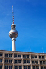 Berlin TV Tower from Alexanderplatz