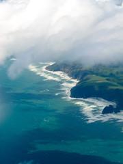 Aerial view of Tasman Sea shore NZ North Island