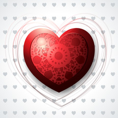 Precious heart, red background