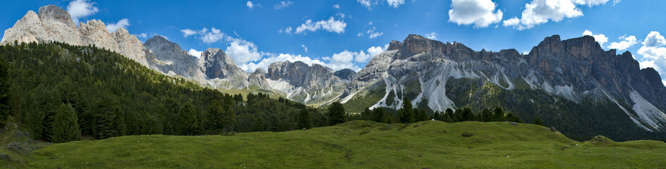 Dolomites, the group of Odle and Mount Stevia - Italy